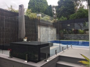 Pool Fencing Sydney - Glass and Brushwood Fence